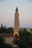 Mesquita do minarete de Yivli em Antalya, Turquia imagens de stock