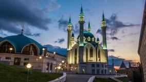 Mesquita do sharif de Kul em kazan kremlin Rússia, timelapse, arquitetura da cidade de nivelamento bonita filme