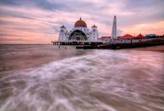 A mesquita dos passos de Malacca Fotos de Stock Royalty Free