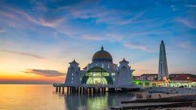 A mesquita dos passos de Malacca no estado Malásia de Malacca Imagem de Stock
