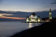 Mesquita dos passos no crepúsculo Fotos de Stock Royalty Free