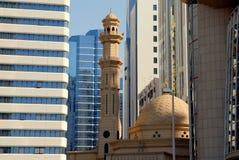 Mesquita e edifícios Fotografia de Stock Royalty Free