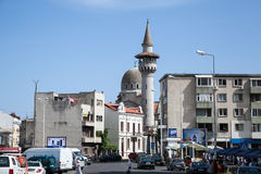 Mesquita e minarete em Constanta. Fotografia de Stock