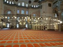 A mesquita em segundo a mais grande de Istambul imagem de stock
