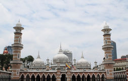 Mesquita famosa em Kuala Lumpur, Malásia - Masjid Jamek Foto de Stock Royalty Free