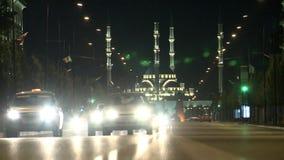 Mesquita formidável de Chechnya o coração de Chechnya video estoque