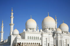 Mesquita grande Ahu Dhabi Fotos de Stock Royalty Free