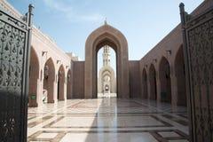 Mesquita grande de Qaboos da sultão no Muscat Fotografia de Stock