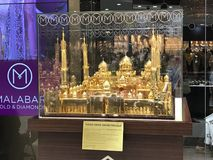 Mesquita grande dourada foto de stock