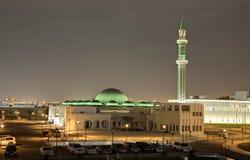 Mesquita grande em Doha na noite qatar Fotos de Stock Royalty Free
