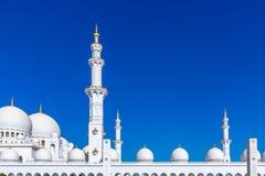 Mesquita grande famosa de Sheikh Zayed em Abu Dhabi, Emiratos Árabes Unidos imagem de stock