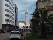 Mesquita hassan 2 de Marrocos casablanca imagens de stock