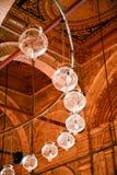 Mesquita interna das lâmpadas de Muhammad Ali no Cairo Egito Fotos de Stock Royalty Free