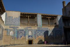 Mesquita interna no palácio de Tash Hauli Tosh Hovli, Khiva, Uzbekist imagem de stock royalty free