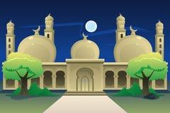 Mesquita islâmica na noite Imagens de Stock Royalty Free
