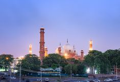 Mesquita Lahore Paquistão de Badshahi Imagem de Stock