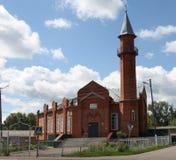 Mesquita na cidade Lyambir perto de Saransk República de Mordóvia Federação Russa fotos de stock royalty free