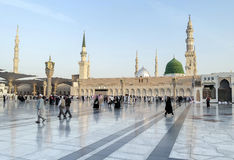 Mesquita na manhã, Medina de Nabawi, Arábia Saudita Fotos de Stock