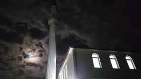 Mesquita na noite imagens de stock
