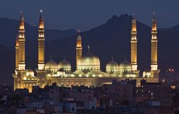 Mesquita na noite Fotografia de Stock