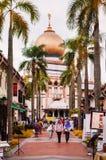 Mesquita no encanto do Kampong, Singapura da sultão ou da sultão de Masjid imagens de stock