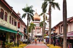 Mesquita no encanto do Kampong, Singapura da sultão ou da sultão de Masjid fotos de stock royalty free
