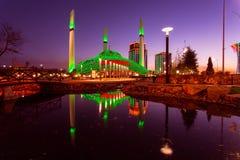 Mesquita no por do sol Fotos de Stock Royalty Free