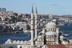 Mesquita nova de Eminonu na cidade de Istambul Imagens de Stock