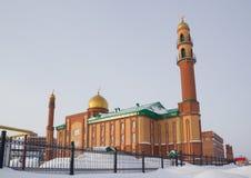 Mesquita nova em Novosibirsk, Federação Russa foto de stock royalty free
