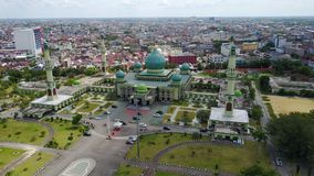 Mesquita Pekanbaru de Agung An-nur, Riau - Indonésia Foto de Stock Royalty Free