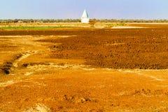 Mesquita perto de Sennar em Sudão no deserto de Sahara Fotos de Stock