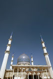 Mesquita Sultan Salahuddin Abdul Aziz Shah Selangor Malásia Fotos de Stock Royalty Free
