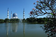 Mesquita Sultan Salahuddin Abdul Aziz Shah Selangor Malásia Fotos de Stock