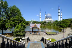 Mesquita Sultan Salahuddin Abdul Aziz Shah Selangor Malásia Imagem de Stock
