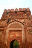 Mesquita vermelha em Taj Mahal Imagem de Stock