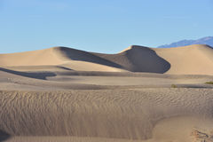 Mesquite Dunes in Death Valley National Park Royalty Free Stock Photography