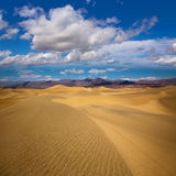 Mesquite Dunes desert in Death Valley National Park Royalty Free Stock Photo