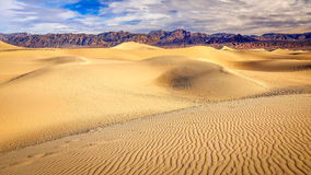 Mesquite Flat Sand Dunes in Death Valley Royalty Free Stock Images