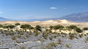 Mesquite Flat Sand Dunes, Death Valley Royalty Free Stock Photo