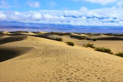 Mesquite Flat Sand Dunes, Death Valley National Park, California Royalty Free Stock Image