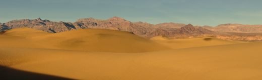 Mesquite Sand Dunes panoramic Royalty Free Stock Image
