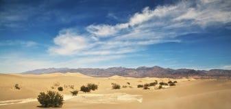 Mesquiten sänker sanddyn Death Valley Arkivfoto