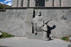 Mesrop Mashtoc statua Obrazy Royalty Free