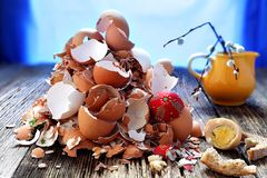 Mess. After easter was  memory only and  giant mess Royalty Free Stock Image
