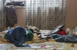 Mess In Bedroom Stock Photography