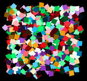 Mess of the color deformed squares Royalty Free Stock Images