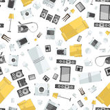 Mess of colorfull icons house appliance seamless Stock Photography