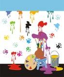 Mess de pintura Imagens de Stock Royalty Free