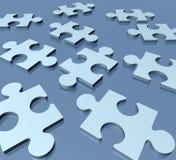 Mess di puzzle del puzzle disorganizzato illustrazione di stock
