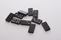 Mess of dominos Royalty Free Stock Photo